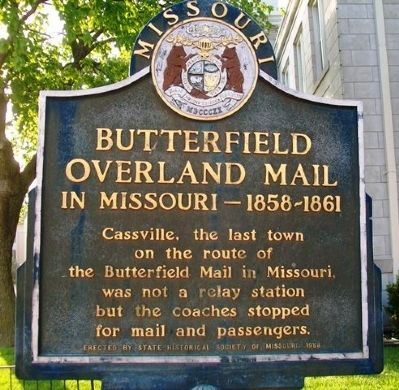 Butterfield Overland Mail in Missouri - 1858-1861 Marker image. Click for full size.