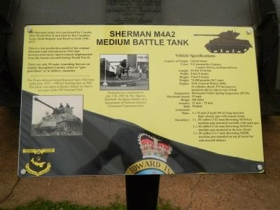 Sherman M4A2 Medium Battle Tank Marker image. Click for full size.