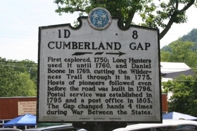Cumberland Gap Marker image. Click for full size.