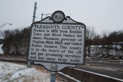 Pleasants County Marker image. Click for full size.