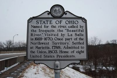 State of Ohio Marker image. Click for full size.