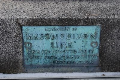 Mason-Dixon Line Stone plaque image. Click for full size.