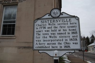 Sistersville Marker image. Click for full size.