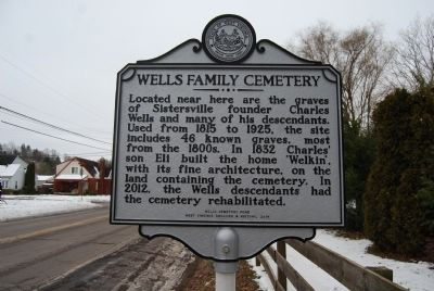 Wells Family Cemetery Marker image. Click for full size.