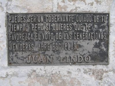 Doctor Juan Lindo additional marker image. Click for full size.