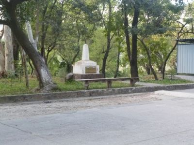 Wide view of The Honduras and El Salvador Border Marker image. Click for full size.