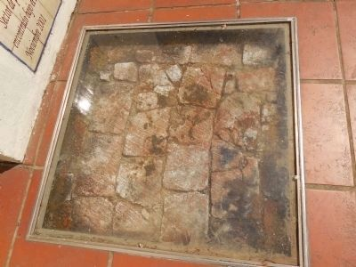 Original brick floor of the church image. Click for full size.