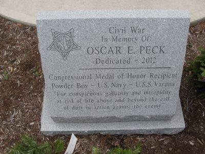 Oscar E. Peck Marker image. Click for full size.