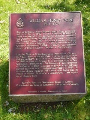 William Henry Pope Marker image. Click for full size.