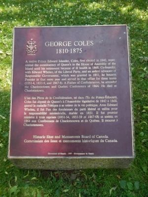 George Coles Marker image. Click for full size.