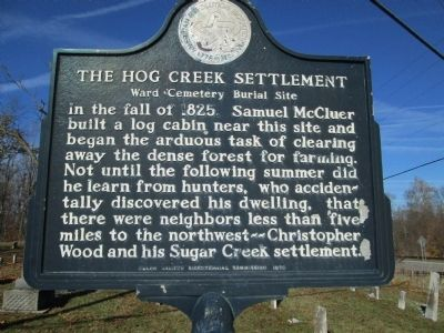 The Hog Creek Settlement Marker image. Click for full size.