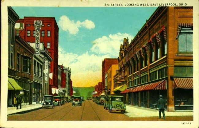 <i>5th Street, Looking West, East Liverpool, Ohio</i> image. Click for full size.