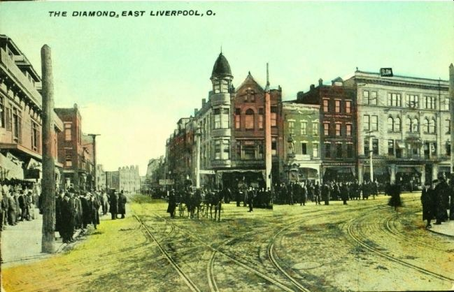 <i>The Diamond, East Liverpool, O.</i> image. Click for full size.