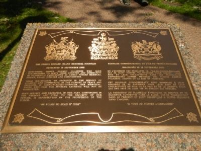 The Prince Edward Island Memorial Fountain Marker image. Click for full size.