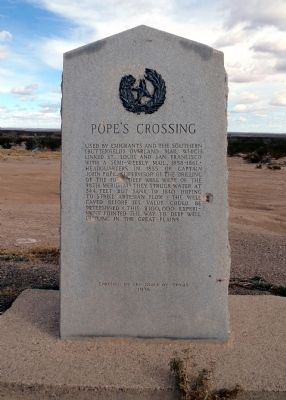 Pope's Crossing Marker image. Click for full size.