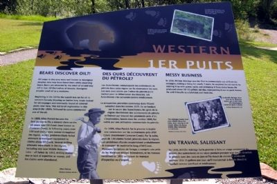 Western Canada's 1st Producing Oil Well Marker image. Click for full size.