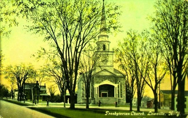 <i>Presbyterian Church, Lowville, N.Y.</i> image. Click for full size.