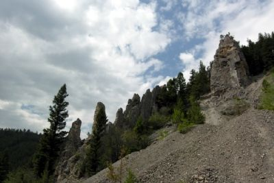 Rattler Gulch Limestone Cliffs image. Click for full size.