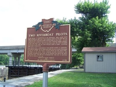 Two Riverboat Pilots Marker image. Click for full size.