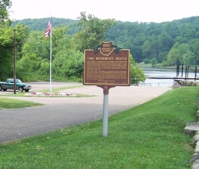 Two Riverboat Pilots Marker site image. Click for full size.