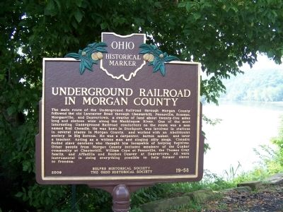 Underground Railroad in Morgan County Marker image. Click for full size.
