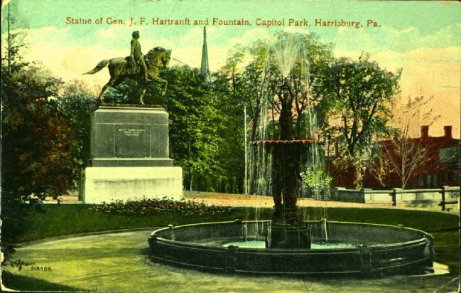 <i>Statue of Gen. J.F. Hartranft and Fountain, Capitol Park, Harrisburg, Pa.</i> image. Click for full size.
