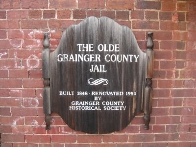 The Olde Grainger County Jail Marker image. Click for full size.
