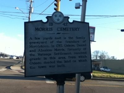 Morristown Cemetery Marker image. Click for full size.