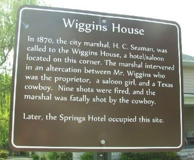 Wiggins House Marker image. Click for full size.