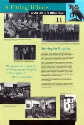 Striving for Equality Marker image. Click for full size.