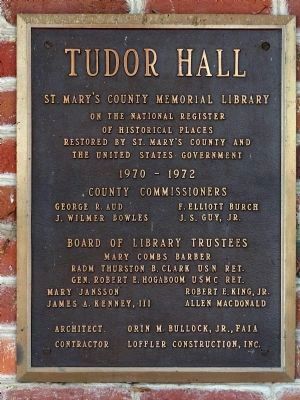 Tudor Hall image. Click for full size.