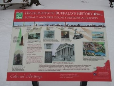 Highlights of Buffalo History Marker image. Click for full size.