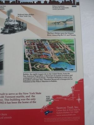 Right Detail - Highlights of Buffalo History Marker image. Click for full size.