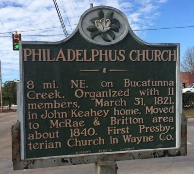 Philadelphus Church Marker image. Click for full size.