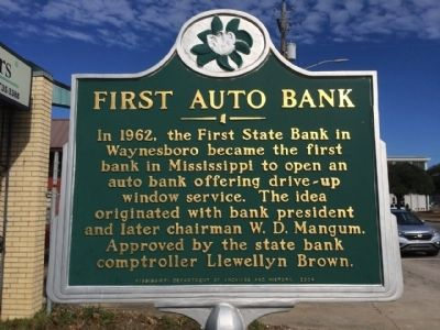 First Auto Bank Marker image. Click for full size.