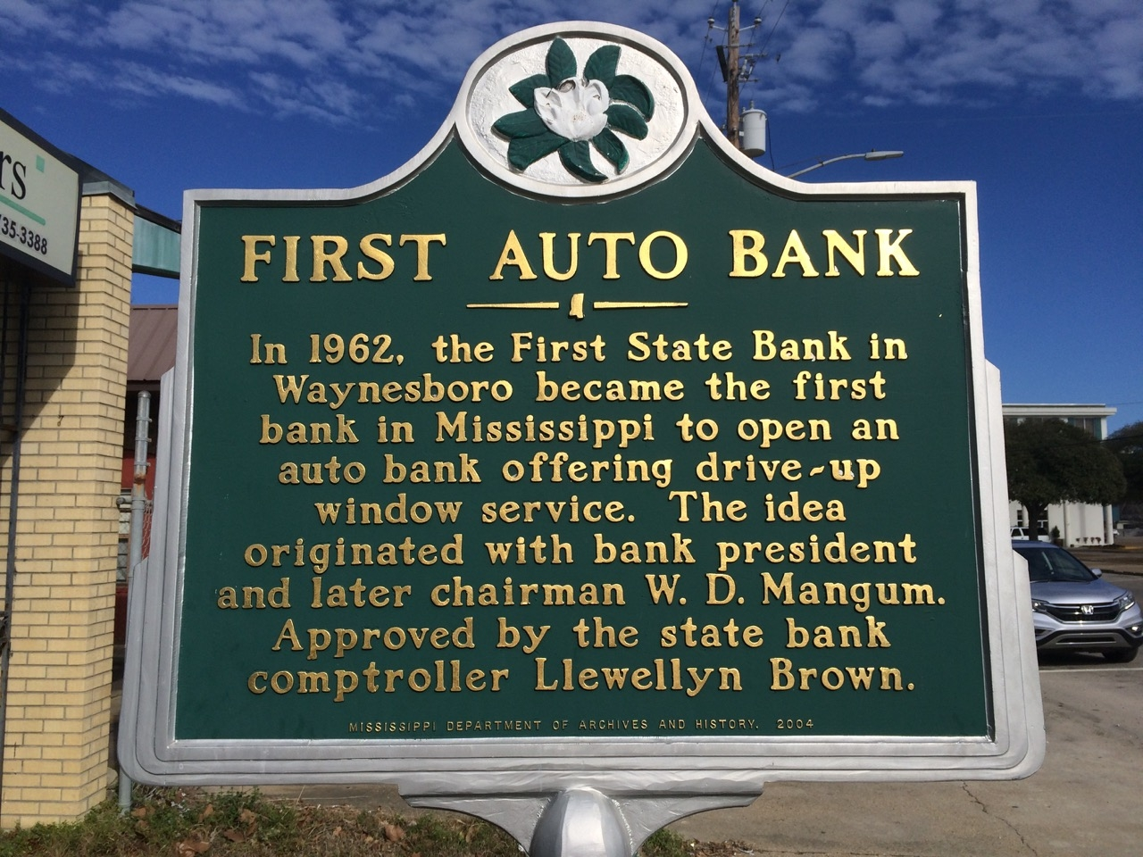 First Auto Bank Marker