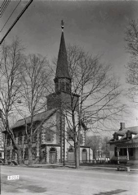 <i>VIEW FROM SOUTH. - First Dutch Reformed Church, Main Street, Fishkill, Dutchess County…</i> image. Click for full size.