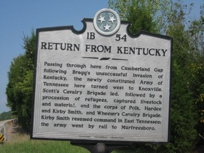 Return From Kentucky Marker image. Click for full size.