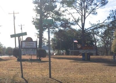 School signs at Mississippi Route 63 and Clara School Road. image. Click for full size.