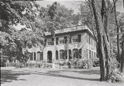 <i>J.L. Johnston, Stone House, residence in Cape Vincent, New York. Lake facade from right</i> image. Click for full size.
