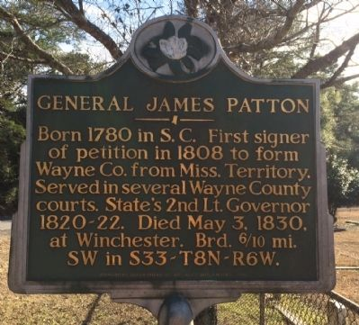 General James Patton Marker image. Click for full size.