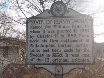 State of Pennsylvania Marker image. Click for full size.