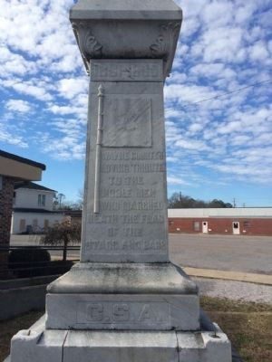 Wayne County Civil War Monument (Front) image. Click for full size.