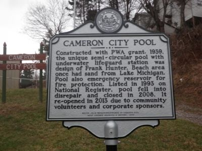 Cameron City Pool Marker image. Click for full size.