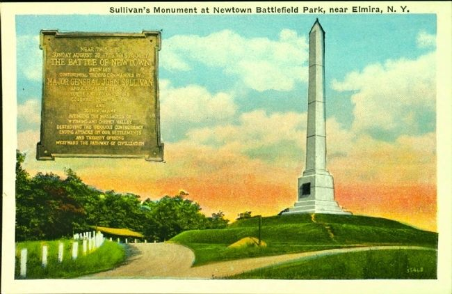 <i>Sullivan&#39;s Monument at Newtown Battlefield Park, near Elmira, N.Y.</i> image. Click for full size.