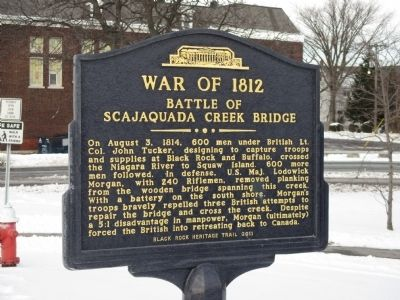 Battle of Scajaquada Creek Bridge Marker image. Click for full size.