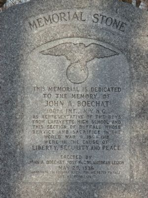 Memorial Dedicated to the Memory of John A. Boechat image. Click for full size.