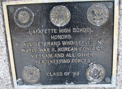 Plaque on Back of Memorial image. Click for full size.