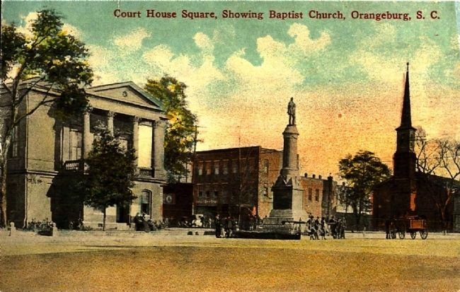 <i>Court House Square, Showing Baptist Church, Orangeburg, S.C.</i> image. Click for full size.