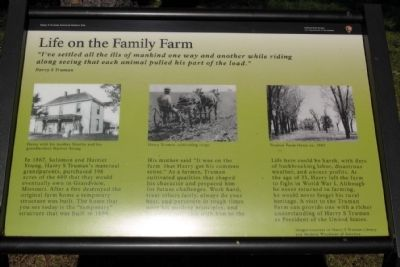 Life on the Family Farm Marker image. Click for full size.